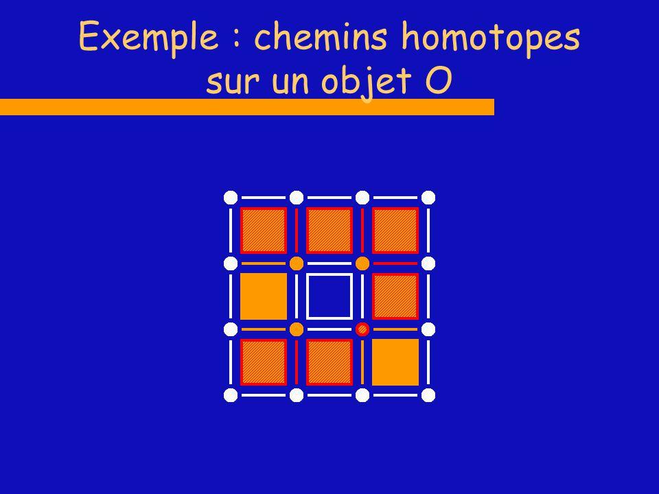 Exemple : chemins homotopes sur un objet O