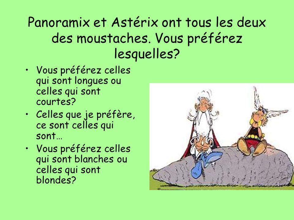 Panoramix et Astérix ont tous les deux des moustaches