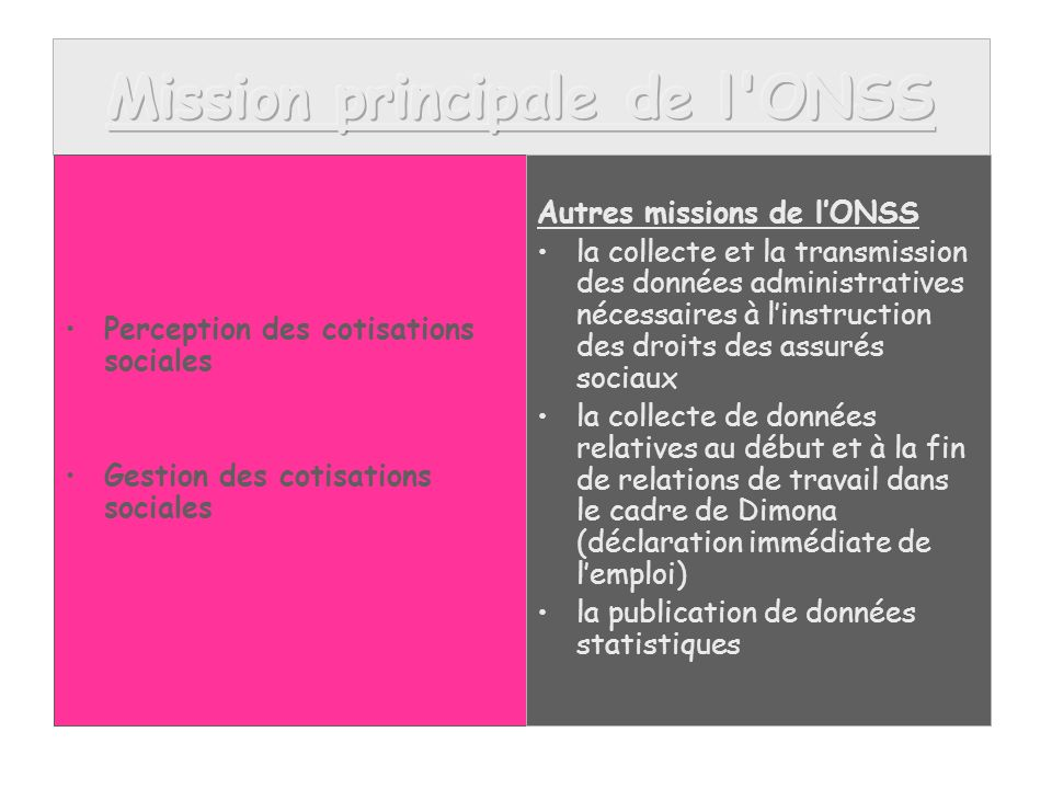 Onss office national de s curit sociale ppt t l charger - Office national de l emploi bruxelles ...