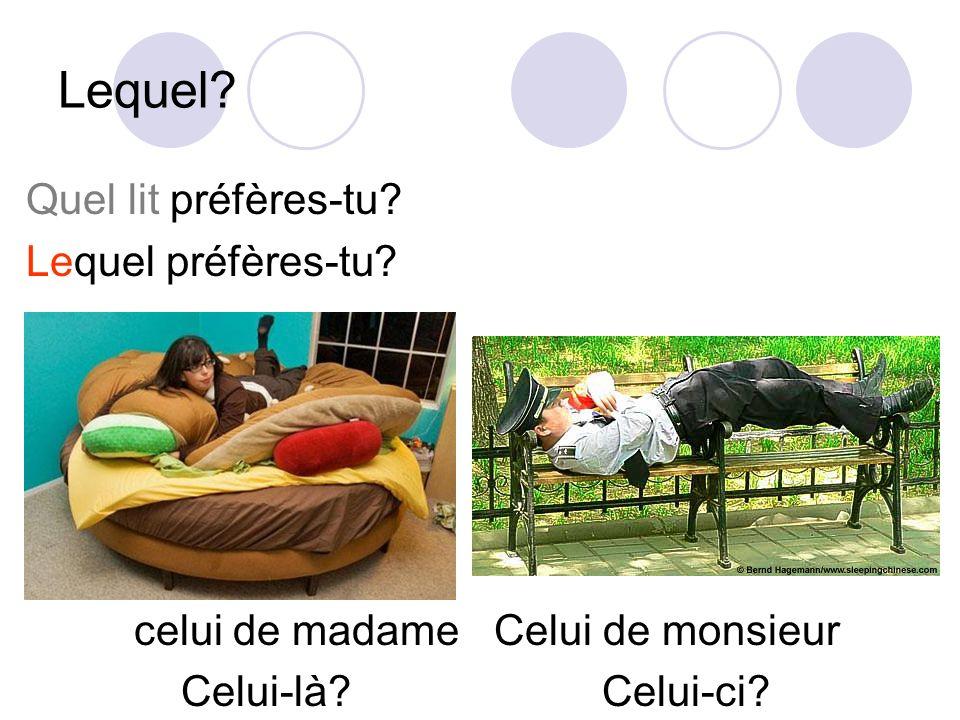 Lequel Quel lit préfères-tu Lequel préfères-tu