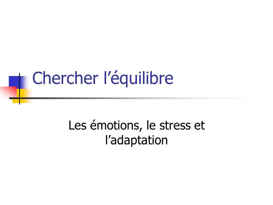 Les émotions, le stress et l'adaptation