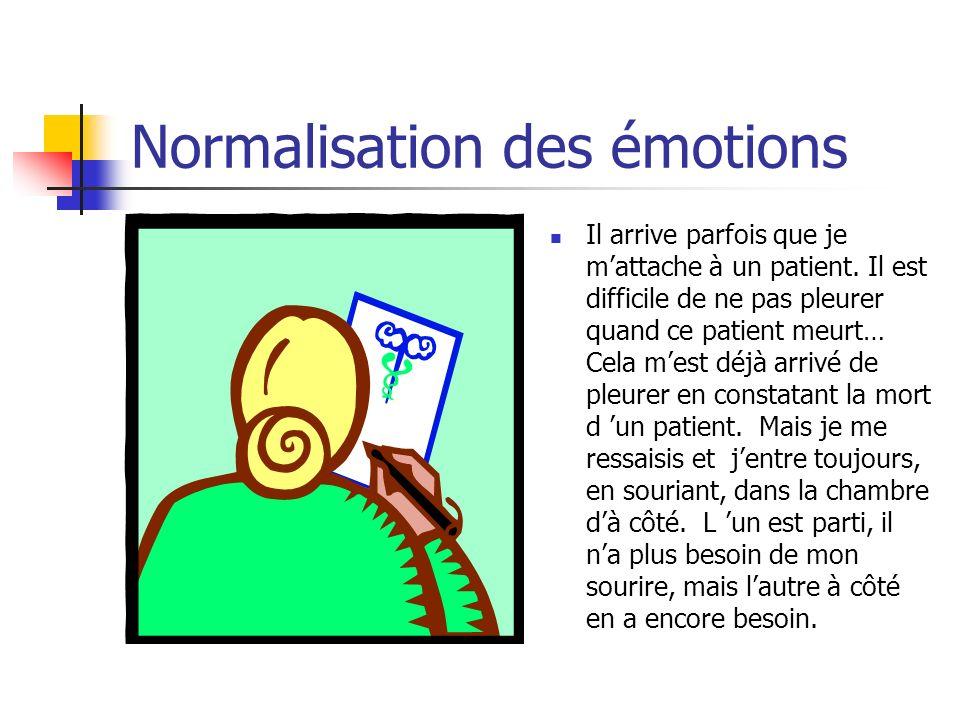 Normalisation des émotions