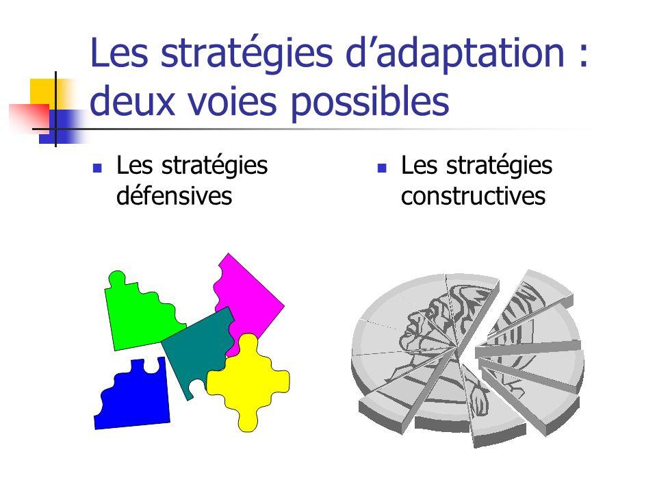 Les stratégies d'adaptation : deux voies possibles