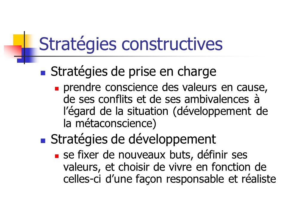 Stratégies constructives