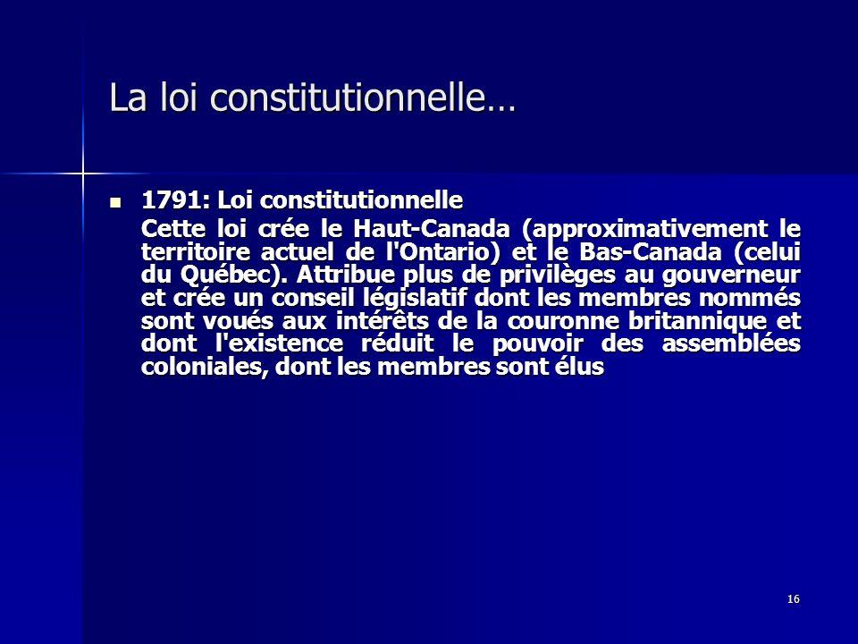 La loi constitutionnelle…