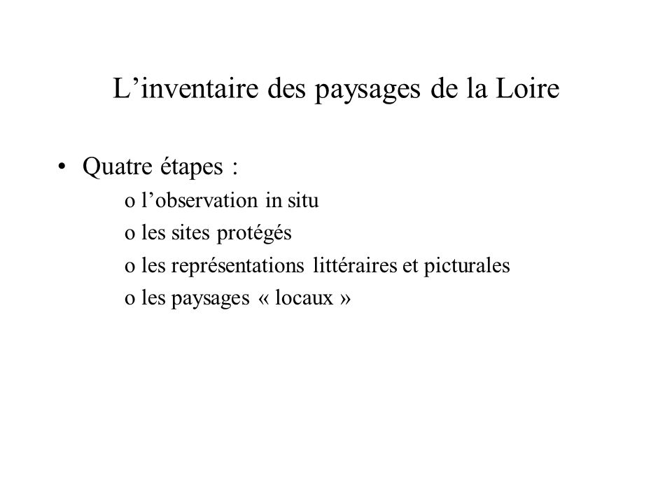 L'inventaire des paysages de la Loire