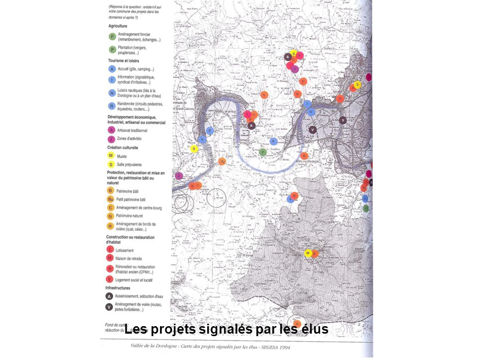 Les projets signalés par les élus