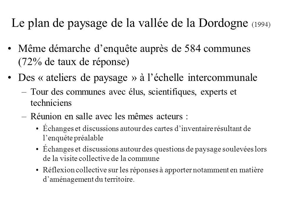 Le plan de paysage de la vallée de la Dordogne (1994)
