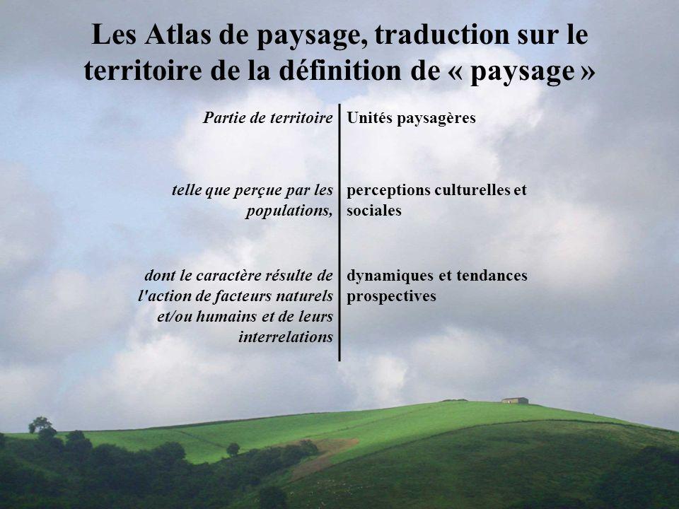 Les Atlas de paysage, traduction sur le territoire de la définition de « paysage »