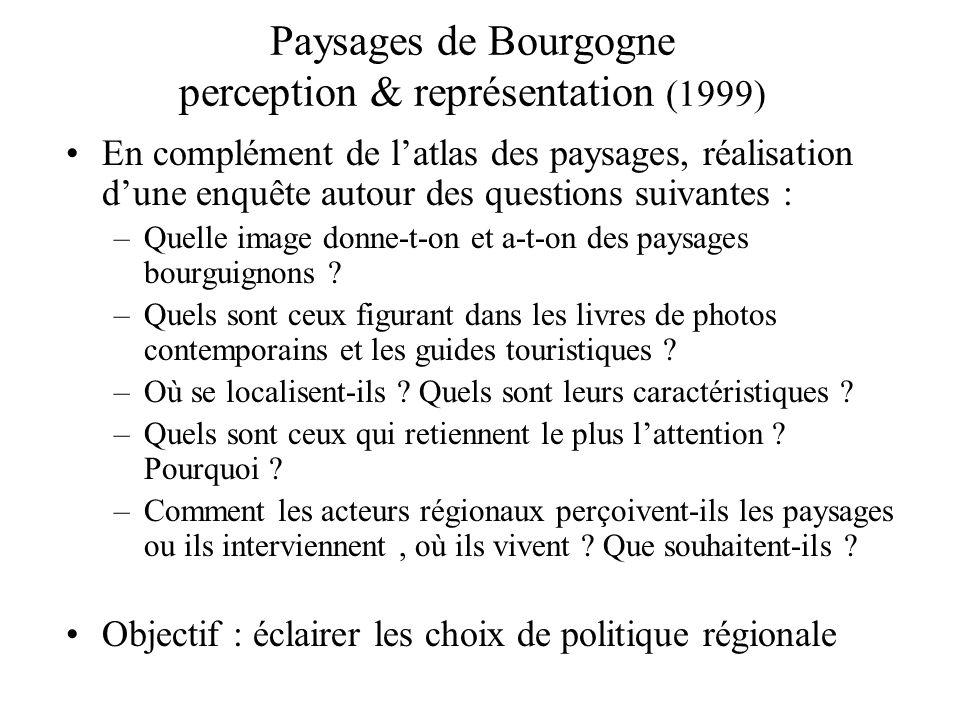 Paysages de Bourgogne perception & représentation (1999)