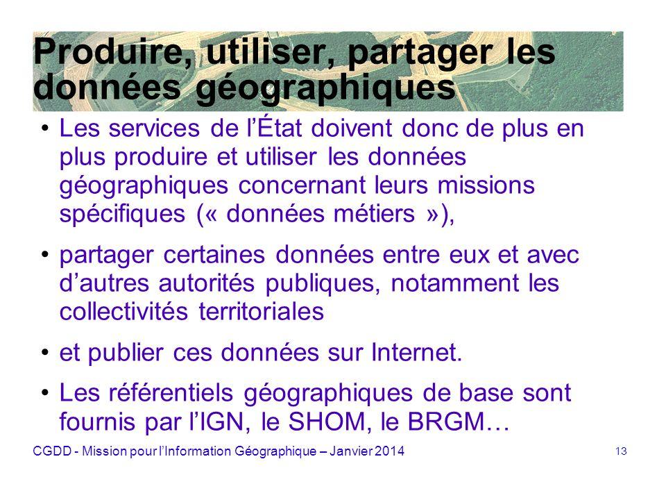 Produire, utiliser, partager les données géographiques