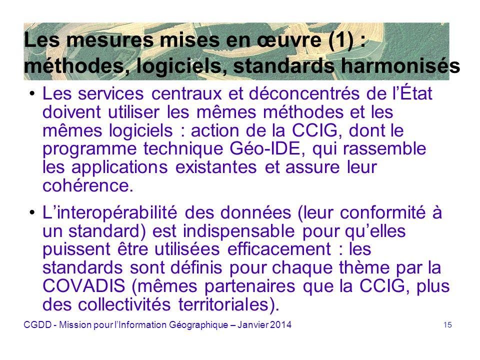 Les mesures mises en œuvre (1) : méthodes, logiciels, standards harmonisés