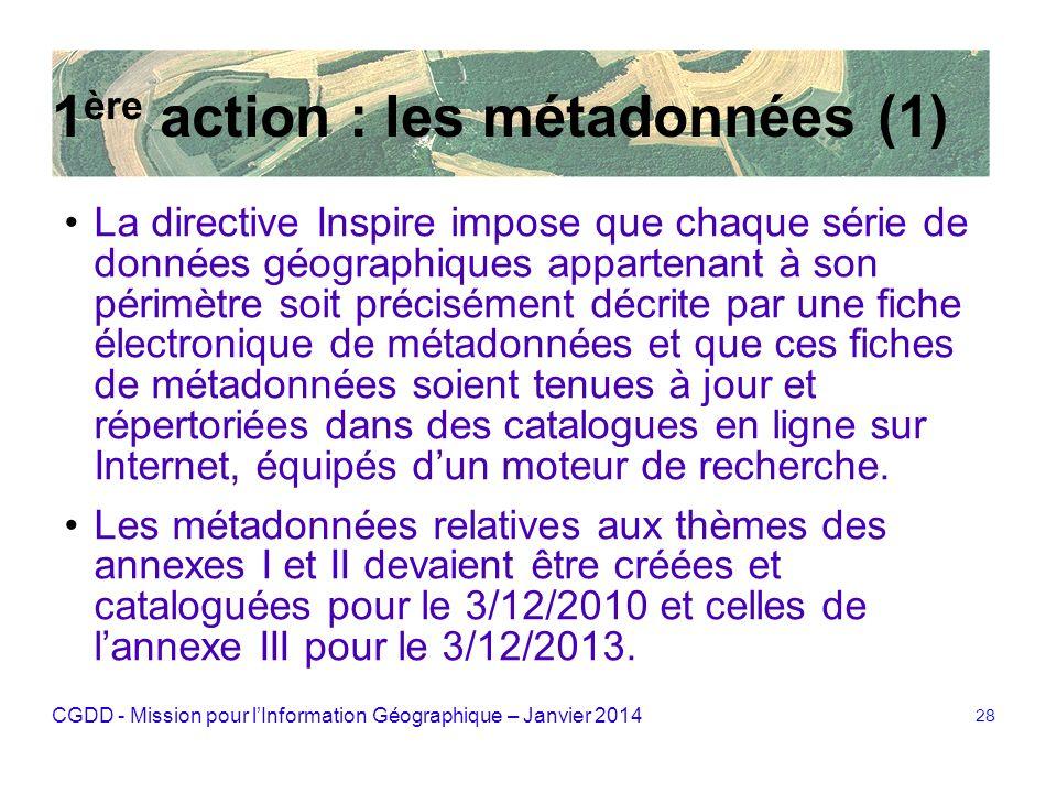 1ère action : les métadonnées (1)