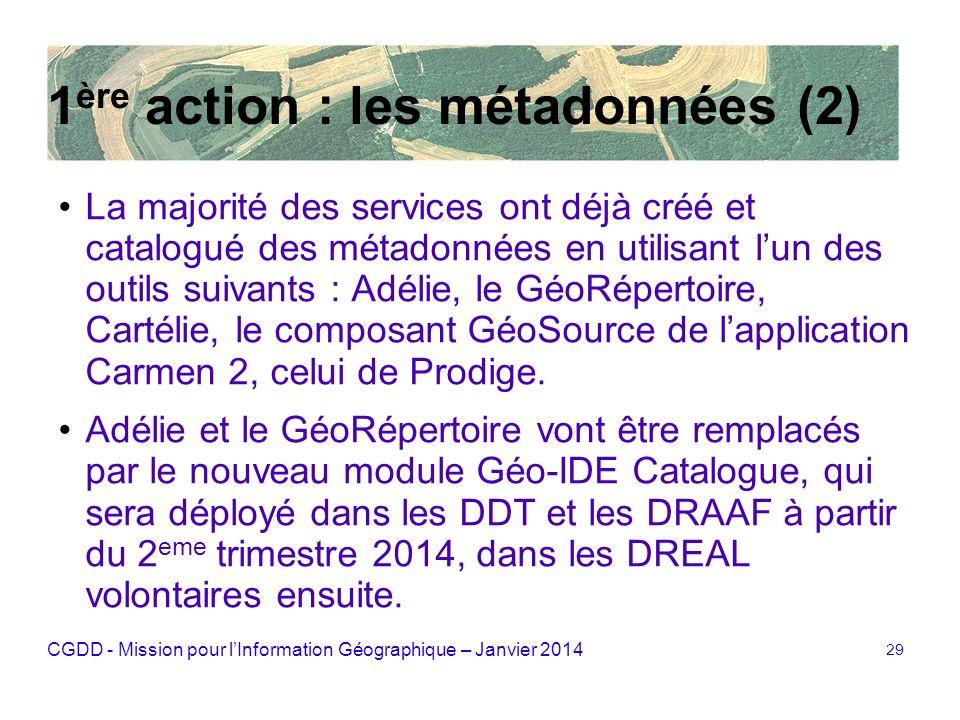 1ère action : les métadonnées (2)