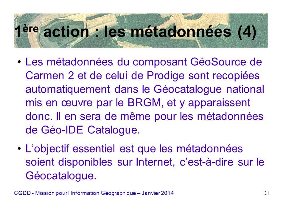 1ère action : les métadonnées (4)