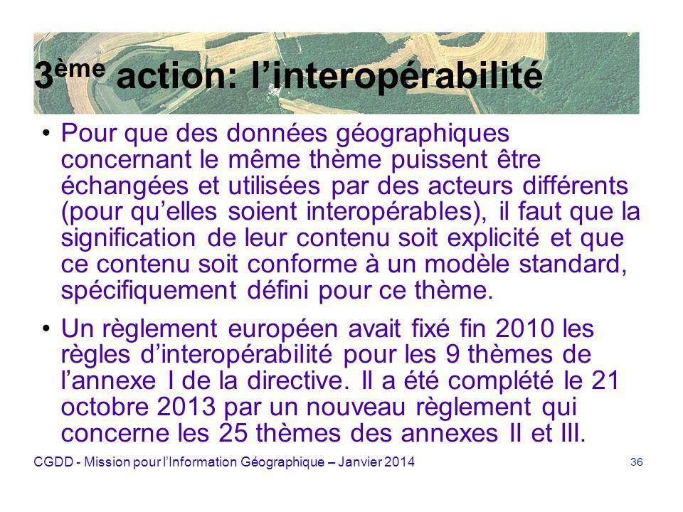 3ème action: l'interopérabilité