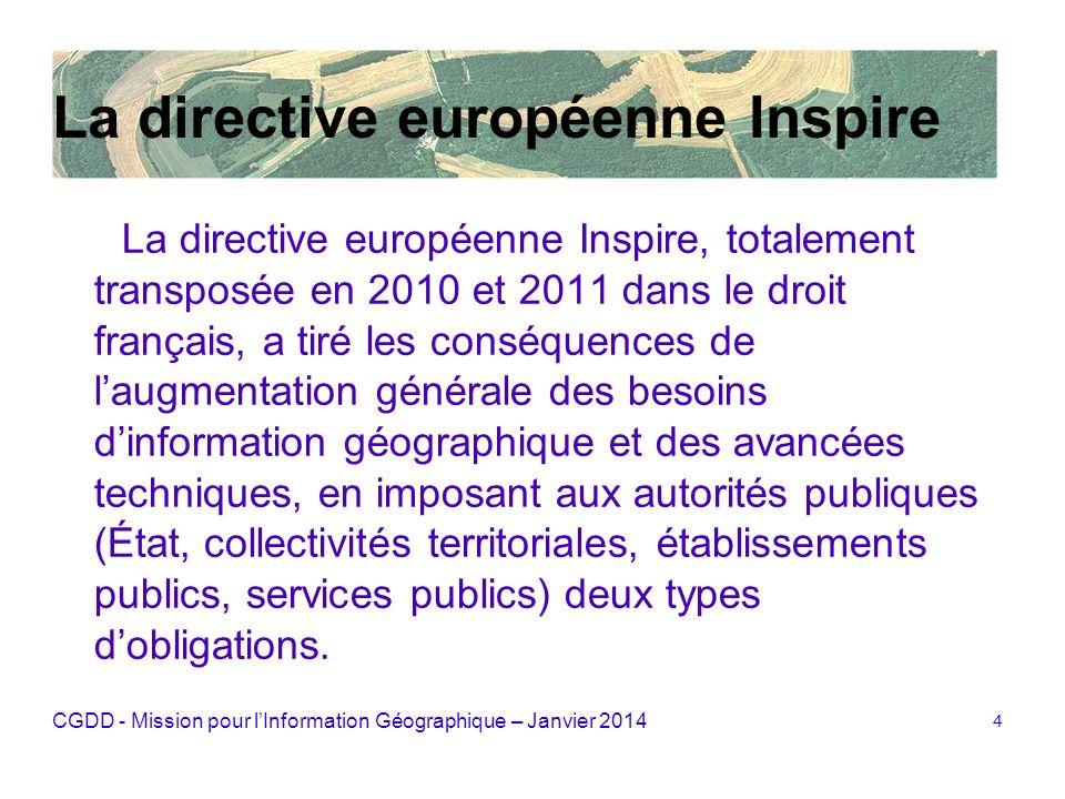 La directive européenne Inspire