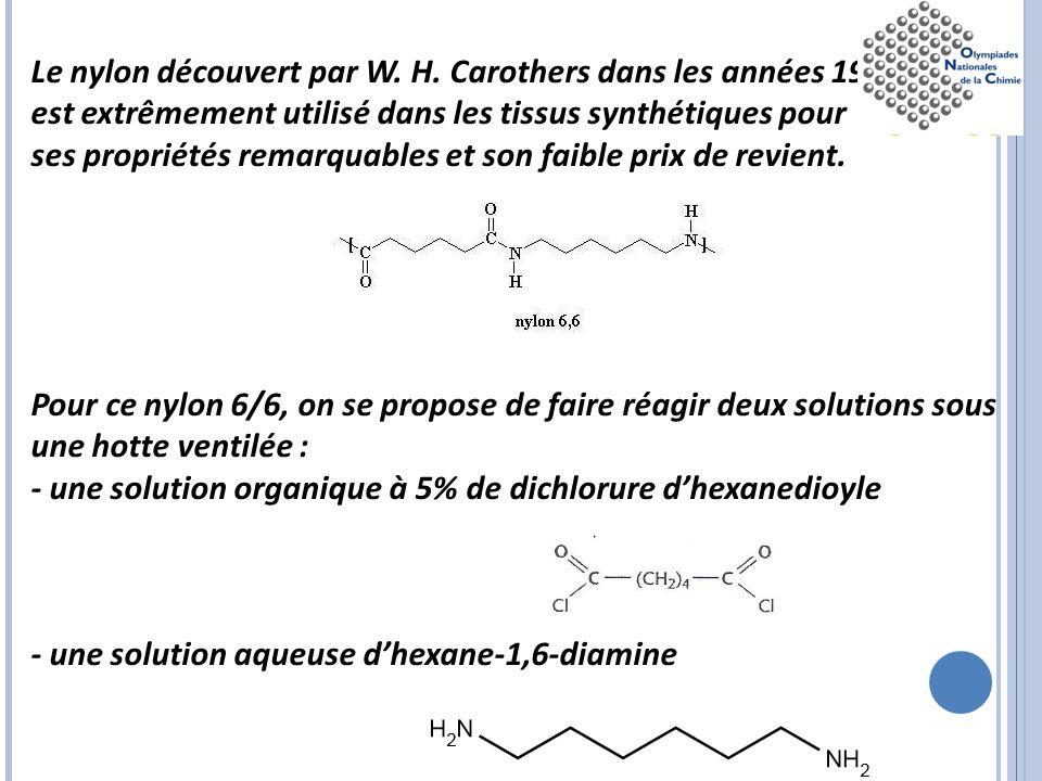 Le nylon découvert par W. H. Carothers dans les années 1930
