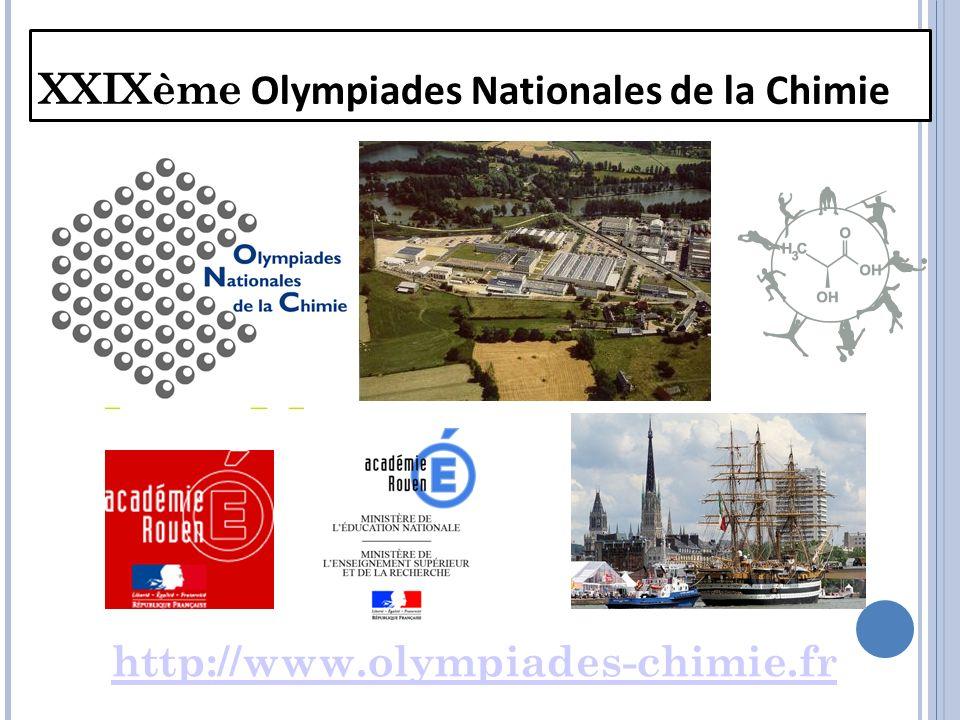 XXIXème Olympiades Nationales de la Chimie