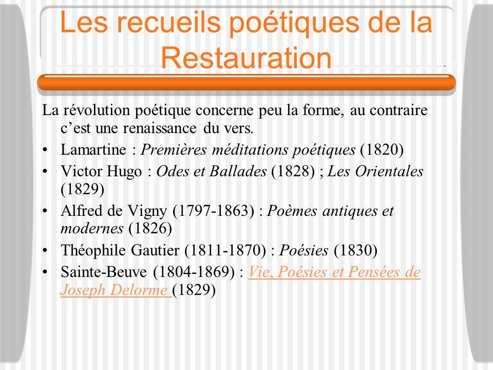 Les recueils poétiques de la Restauration