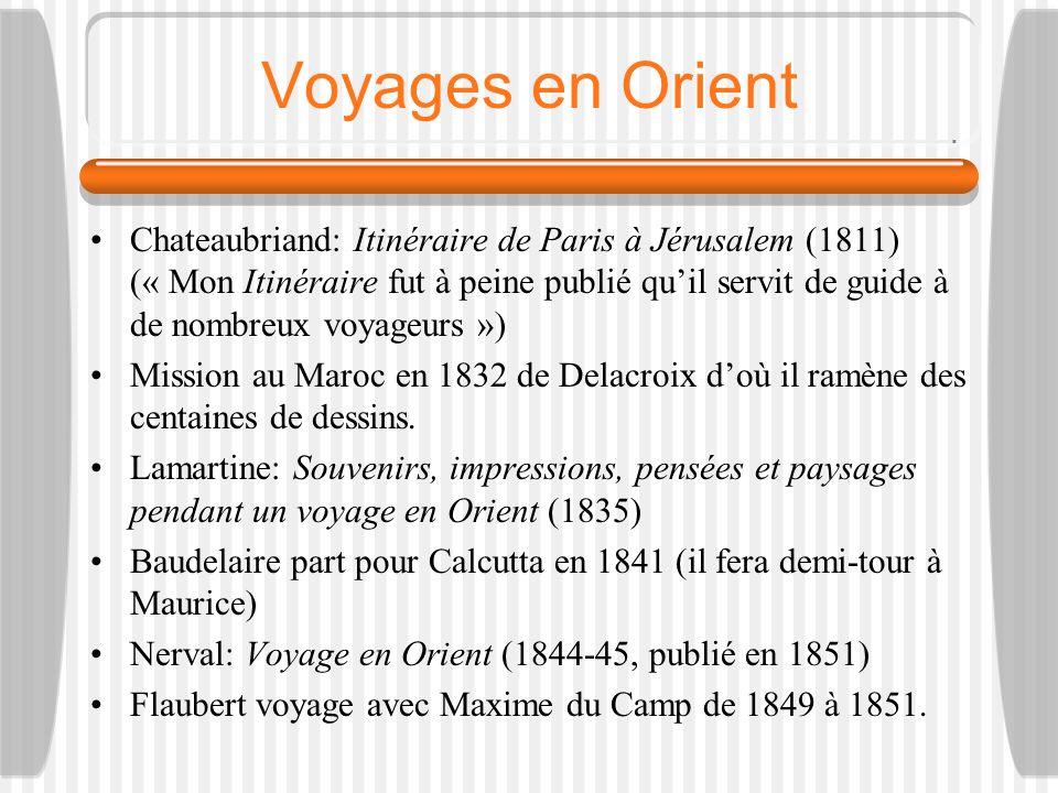 Voyages en Orient