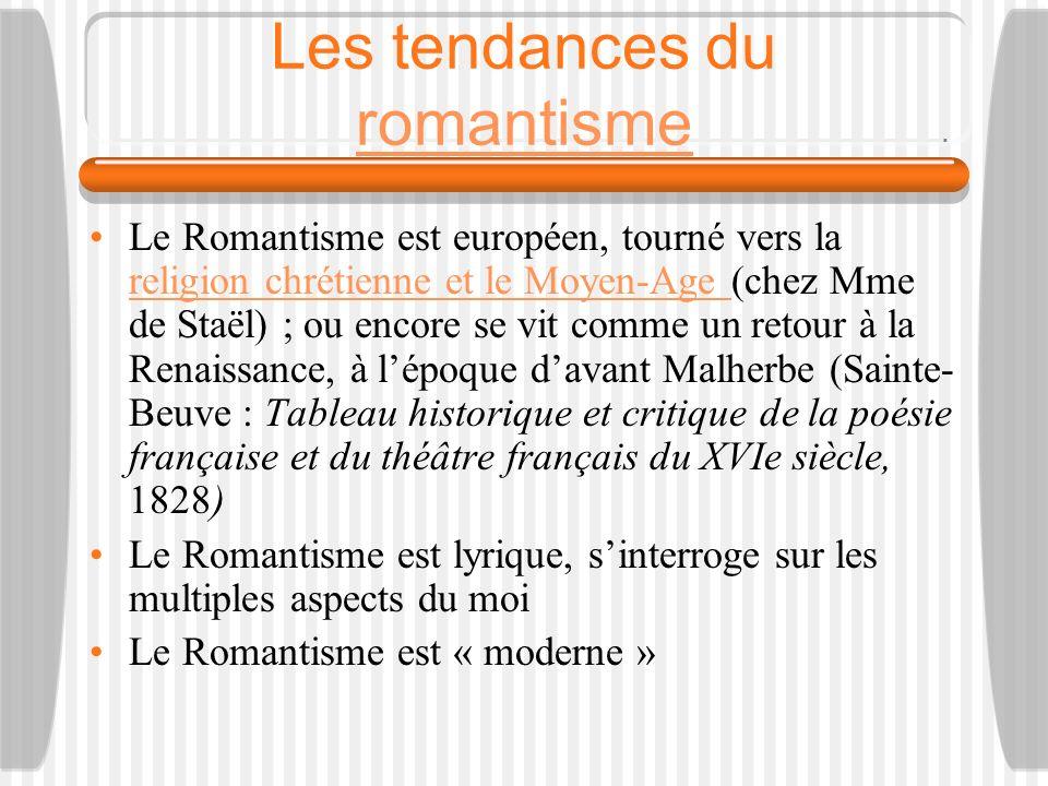 Les tendances du romantisme