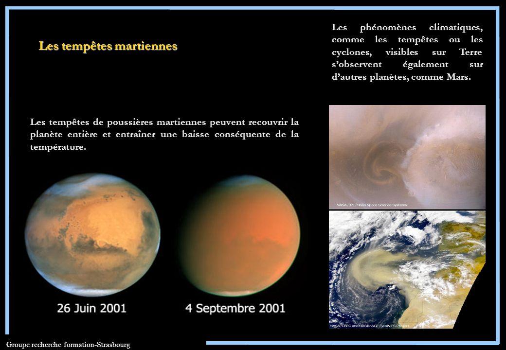 Les tempêtes martiennes
