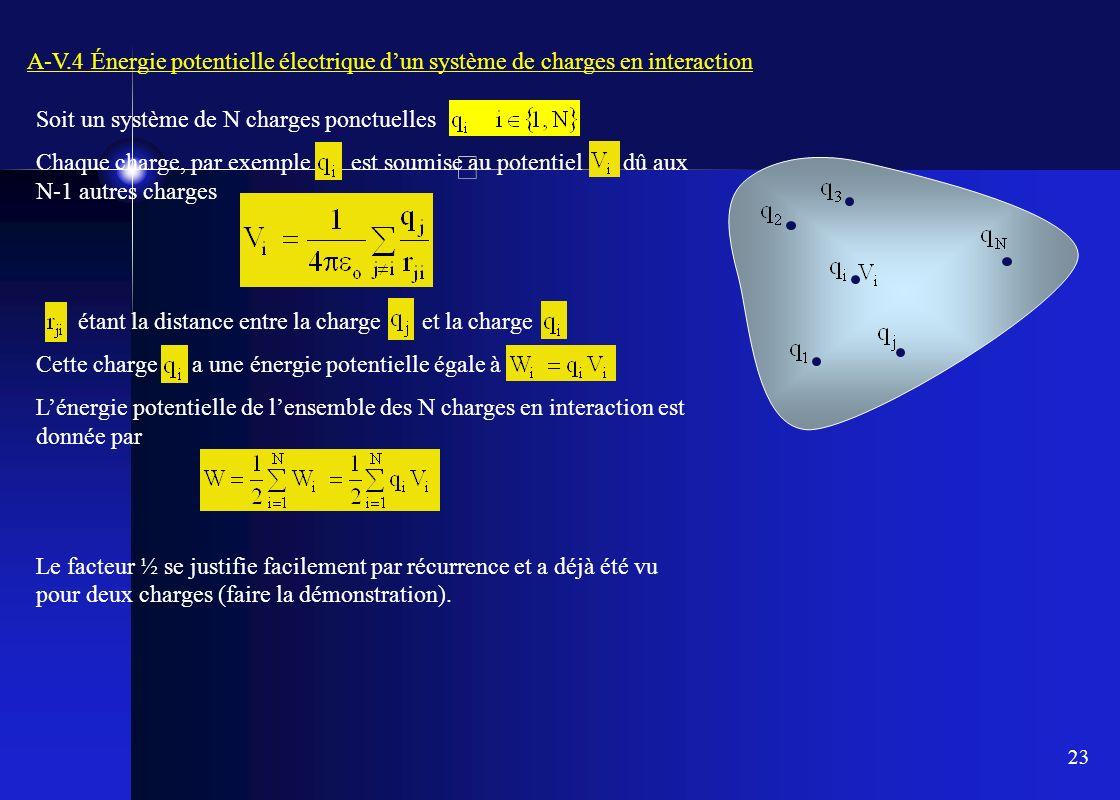 A-V.4 Énergie potentielle électrique d'un système de charges en interaction