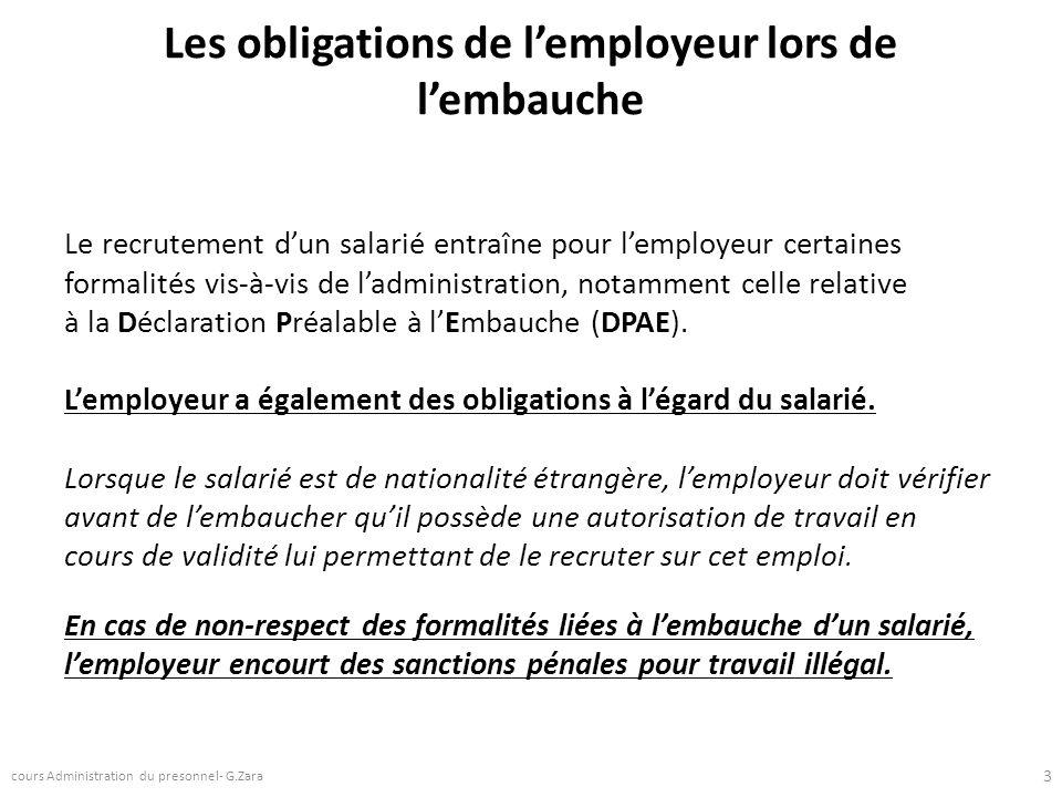 Les obligations de l'employeur lors de l'embauche