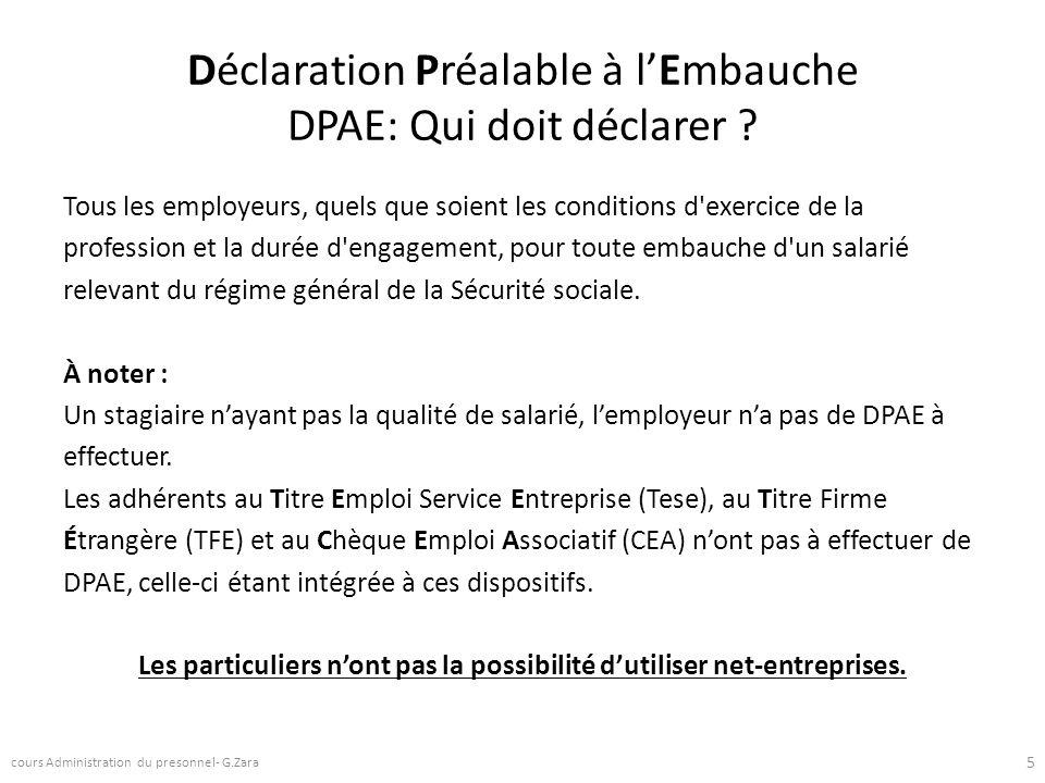 Déclaration Préalable à l'Embauche DPAE: Qui doit déclarer