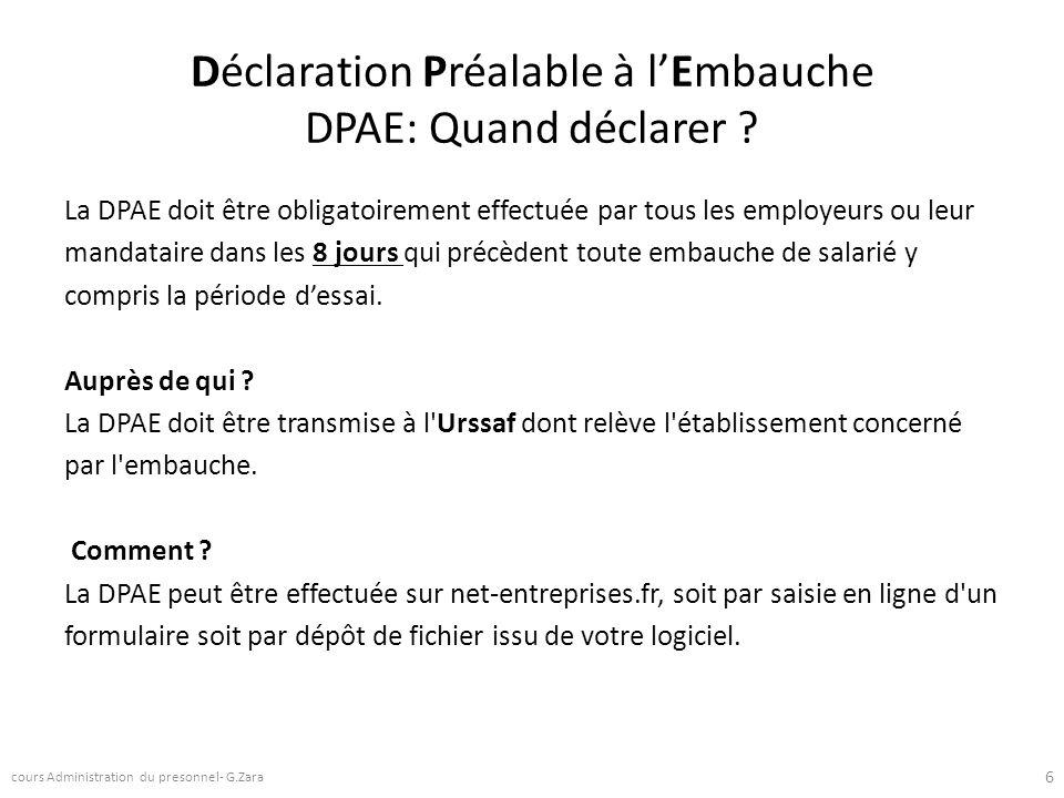 Déclaration Préalable à l'Embauche DPAE: Quand déclarer