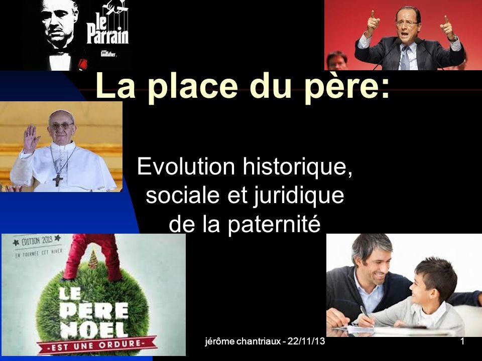 Evolution historique, sociale et juridique de la paternité