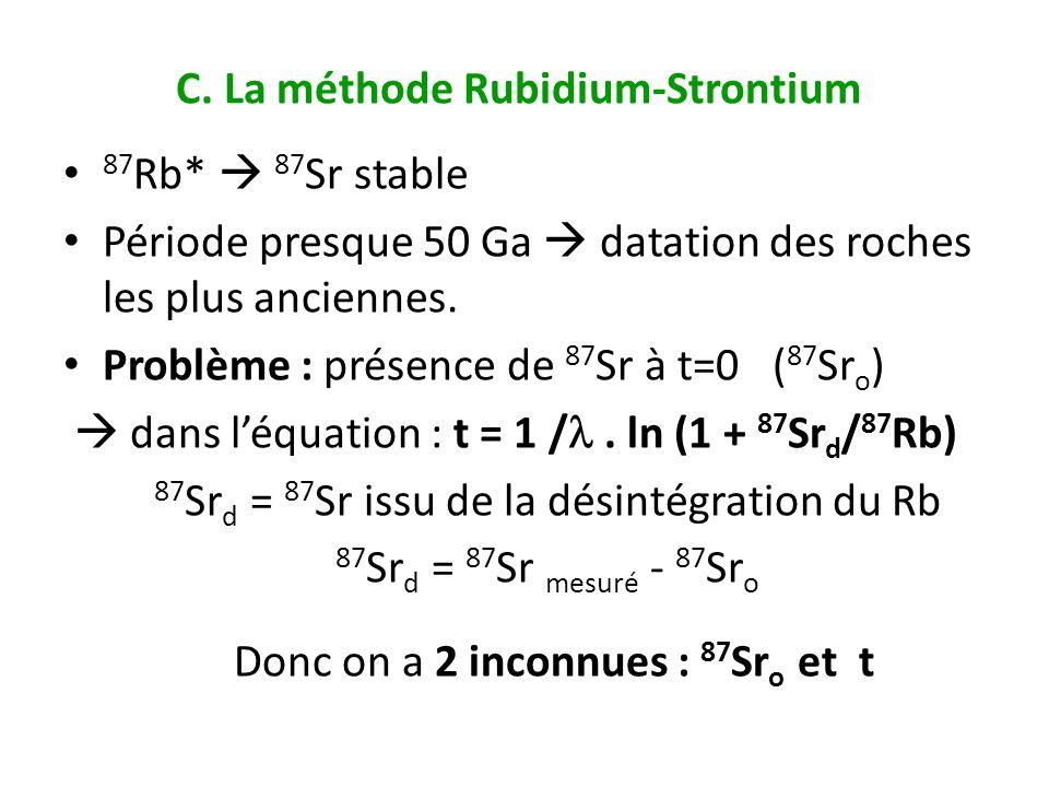C. La méthode Rubidium-Strontium