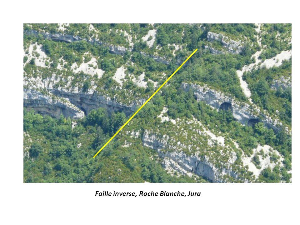 Faille inverse, Roche Blanche, Jura