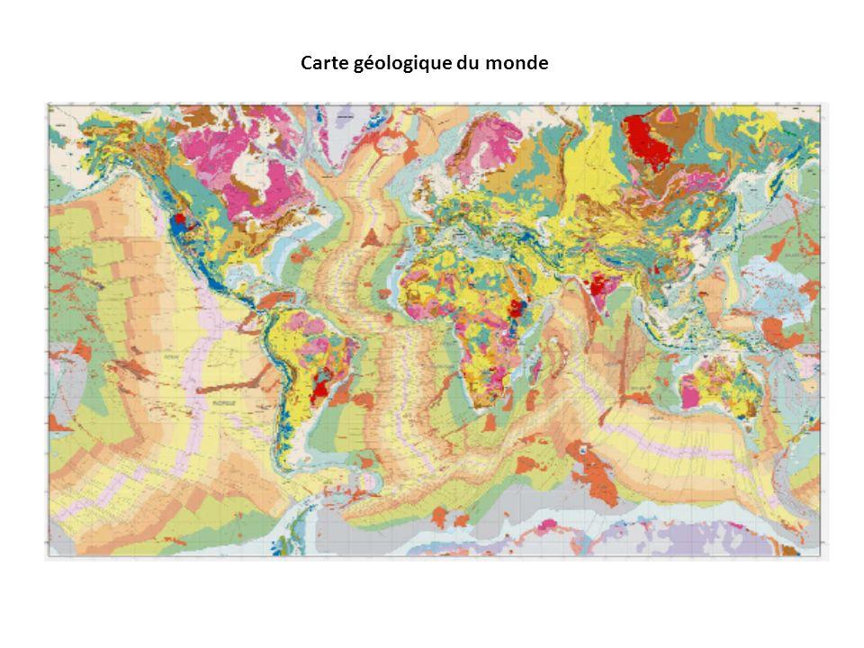 Carte géologique du monde