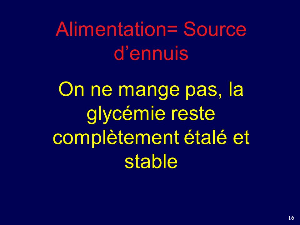 Alimentation= Source d'ennuis