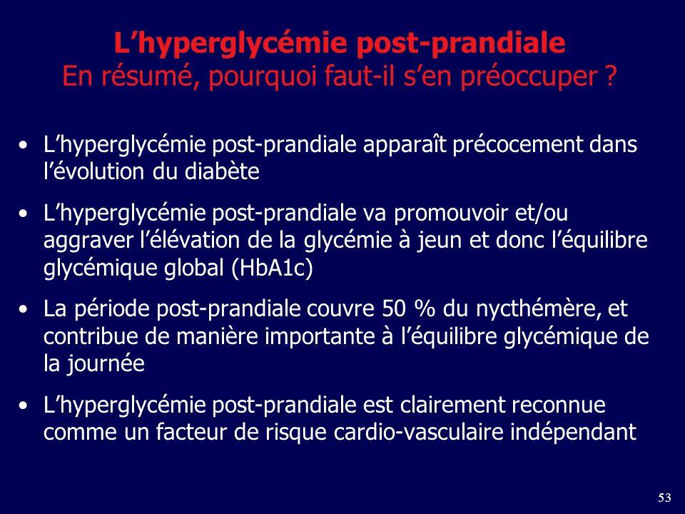 L'hyperglycémie post-prandiale En résumé, pourquoi faut-il s'en préoccuper