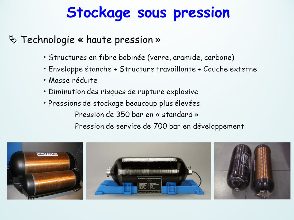 Stockage sous pression