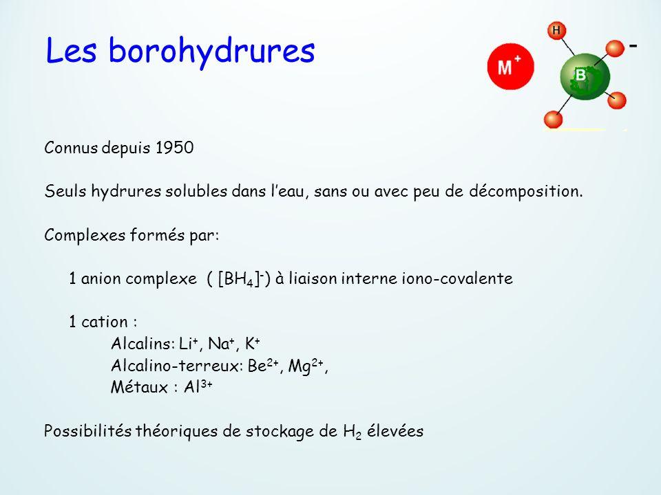 - Les borohydrures Connus depuis 1950
