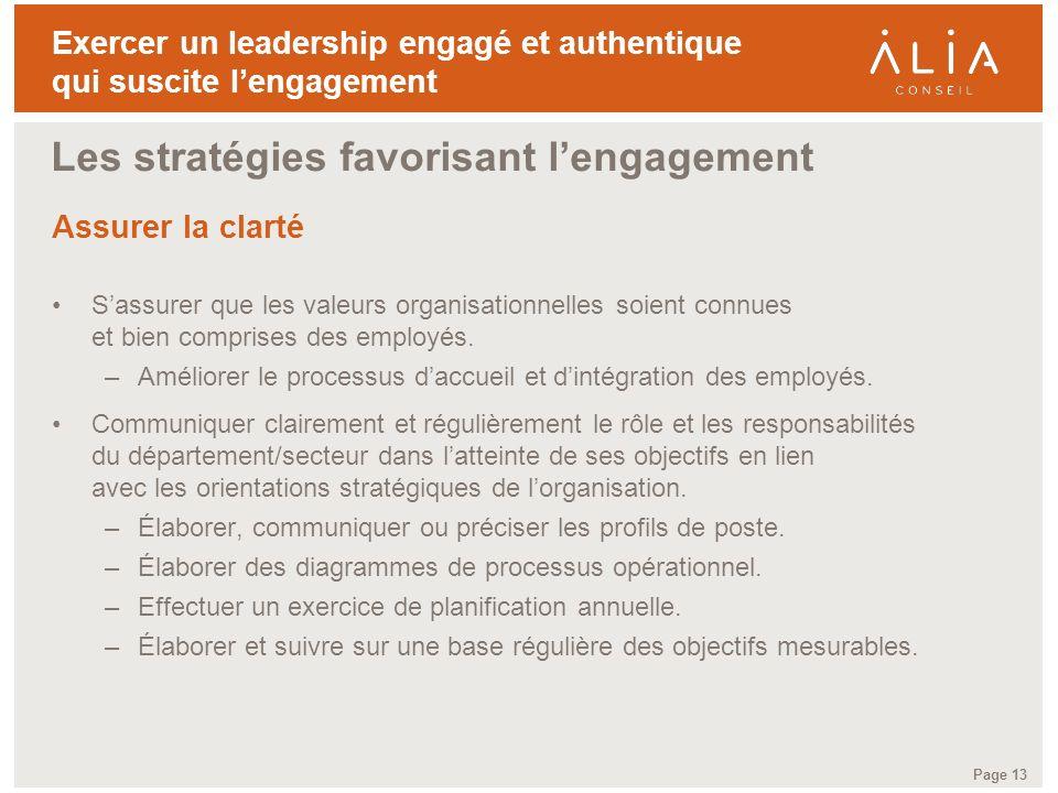 Les stratégies favorisant l'engagement