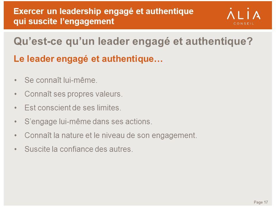 Qu'est-ce qu'un leader engagé et authentique