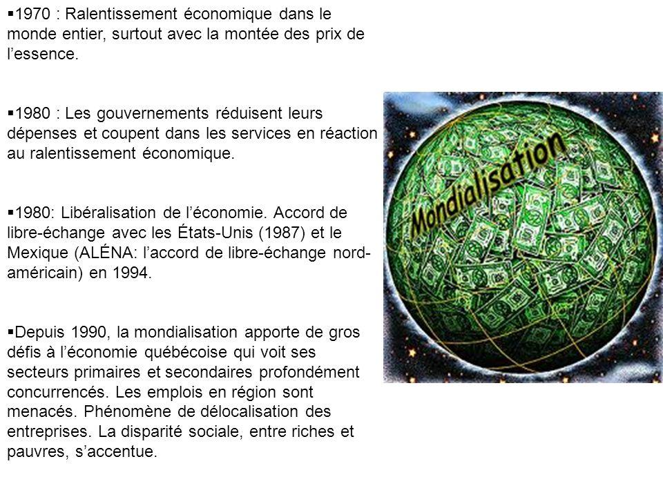1970 : Ralentissement économique dans le monde entier, surtout avec la montée des prix de l'essence.