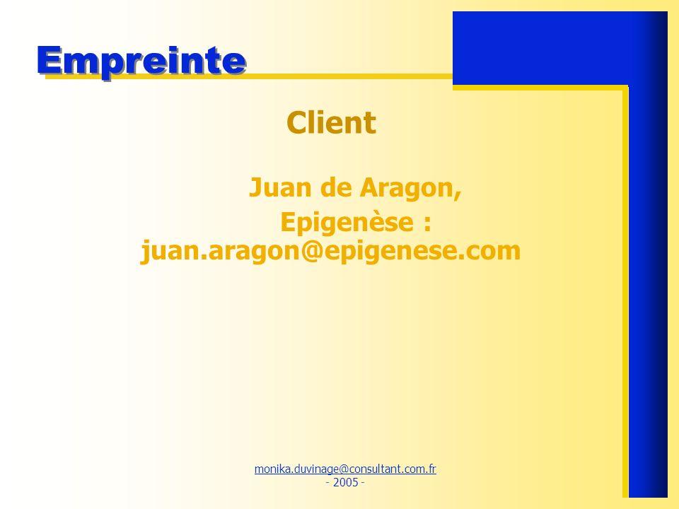 Epigenèse : juan.aragon@epigenese.com