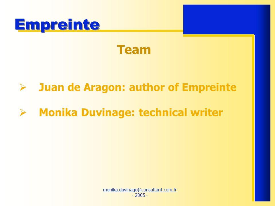 Team Juan de Aragon: author of Empreinte