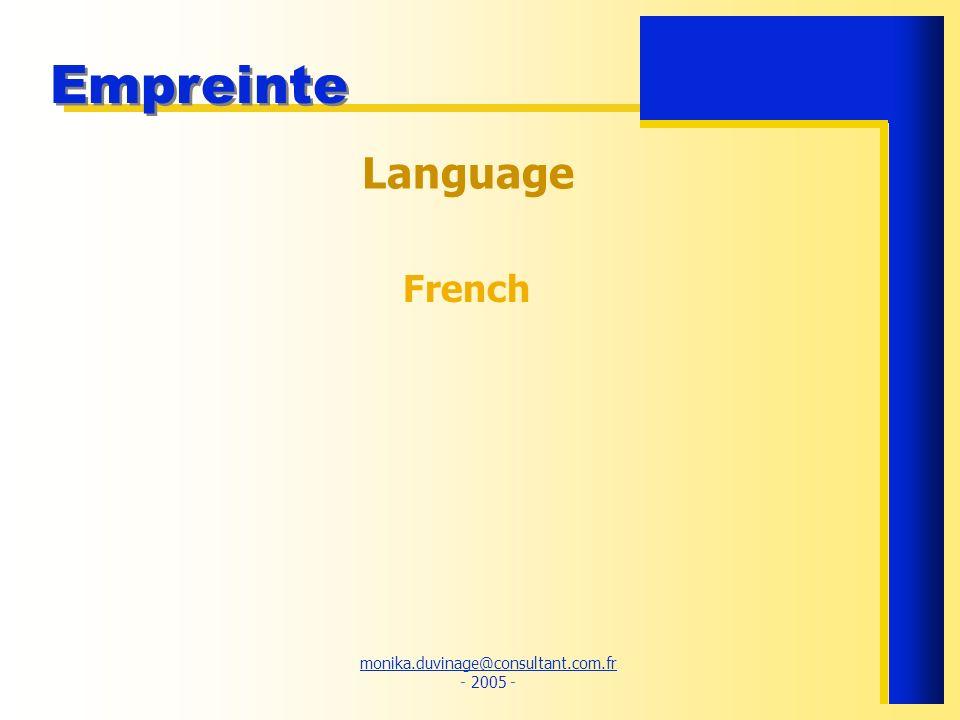 Language French