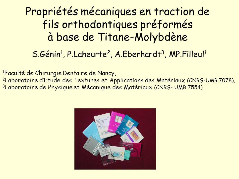 S.Génin1, P.Laheurte2, A.Eberhardt3, MP.Filleul1