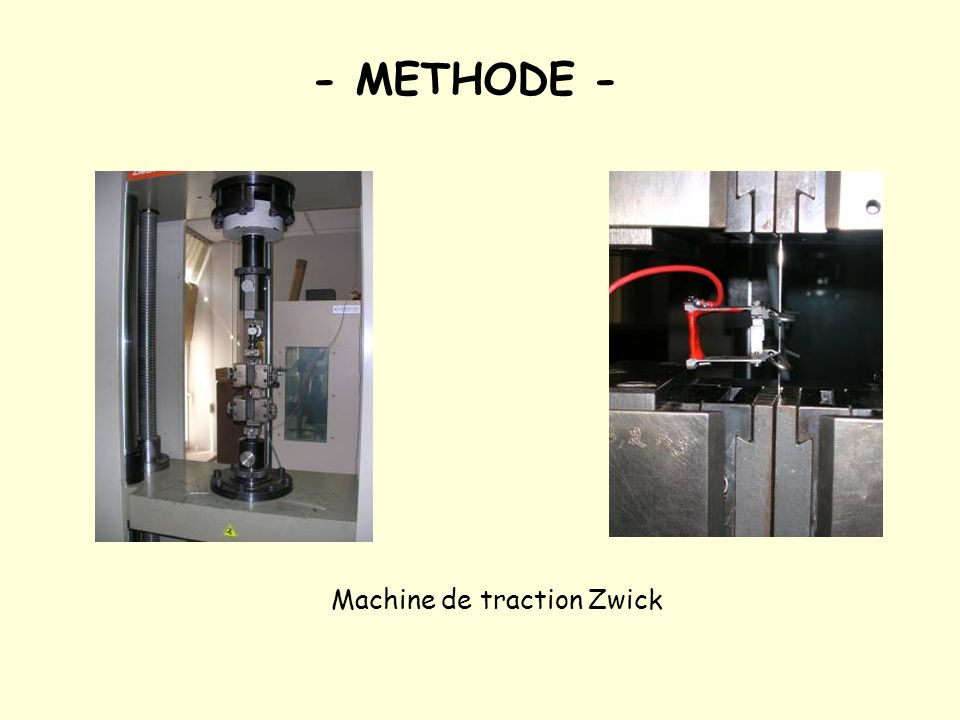 - METHODE - Machine de traction Zwick