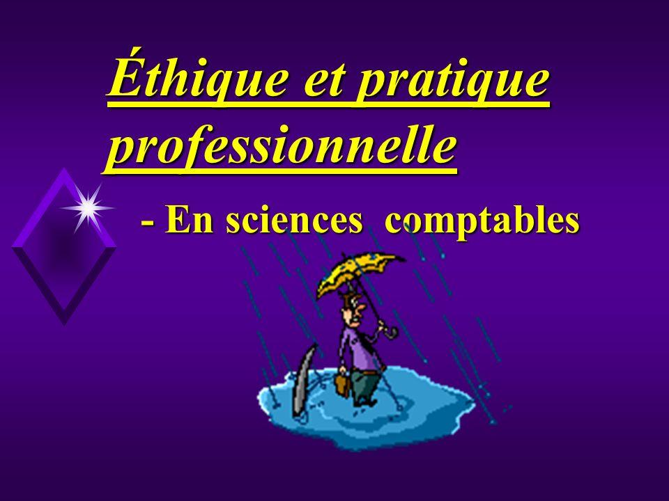 Éthique et pratique professionnelle