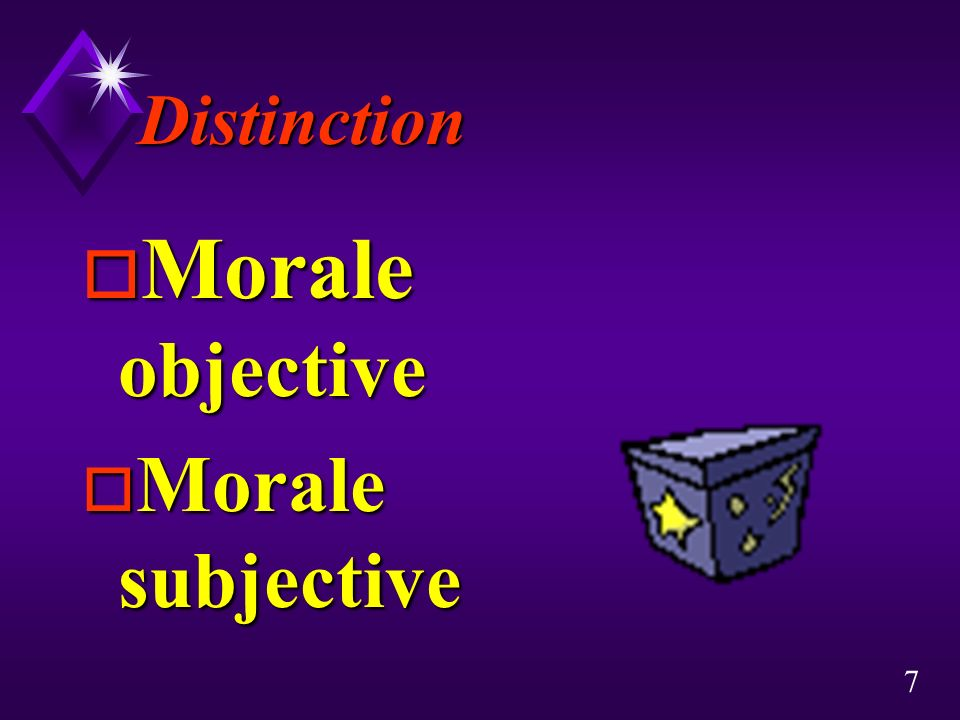 Distinction Morale objective Morale subjective