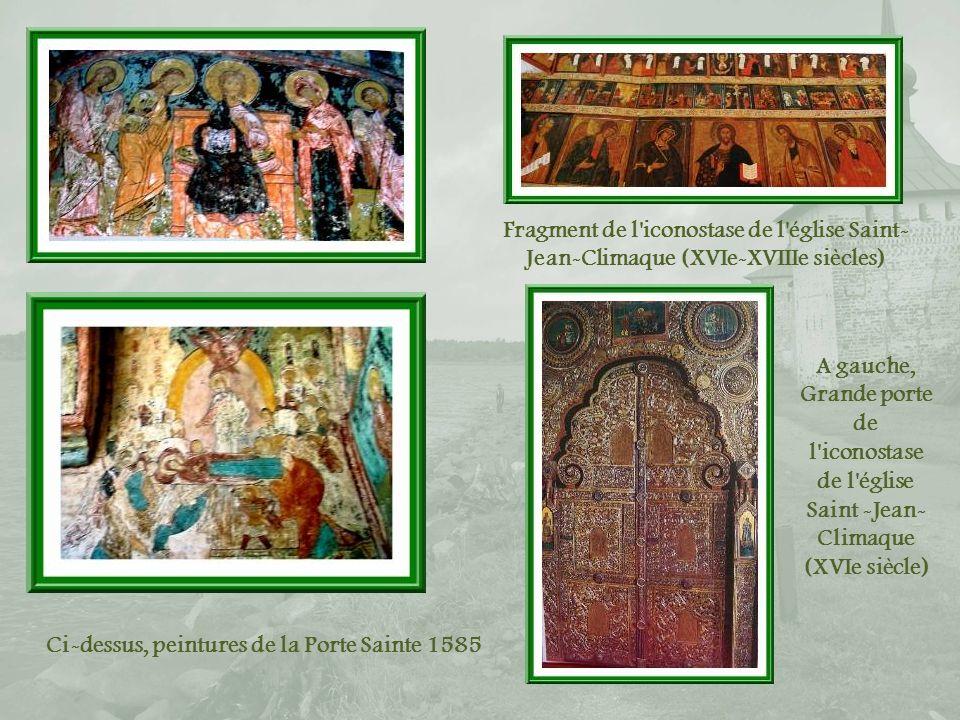 Ci-dessus, peintures de la Porte Sainte 1585